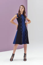 Catherine Sleeveless Color-Block Dress