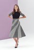 Octavia Sleeved Diagonal Panel Dress