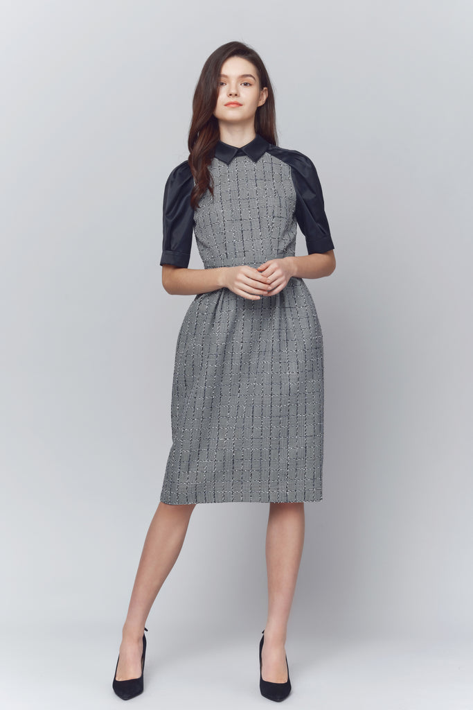 Piper Point Collared Sleeved Dress
