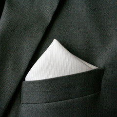 Silk texture pocket square