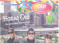 Advertisement in OUT in Perth magazine