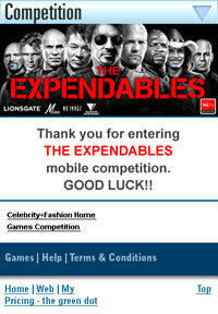 Sponsor of the Expendables DVD release
