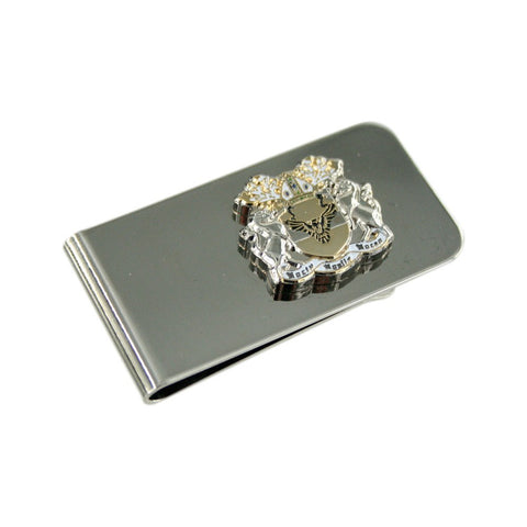 Custom Personalised Shield Money Clip - Double Plated