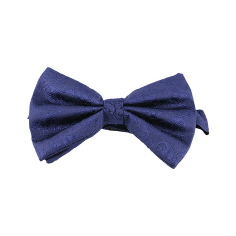 Dashing Navy Patterned Bow Tie