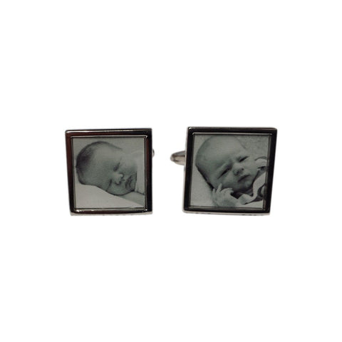 Printed New Born Cufflinks Gunmetal