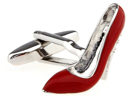 Red High Heel Shoe Cufflinks
