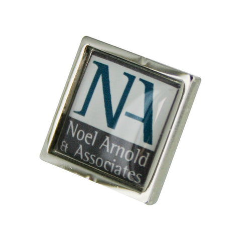 Logo Small Square Silver lapel Pins