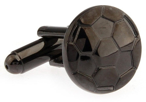 Gunmetal Soccer Ball Cufflinks