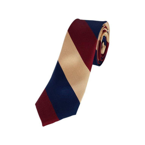 Skinny Blue Maroon Contrast Striped Tie
