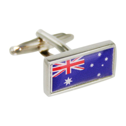 Personalised Australian Flag Cufflinks