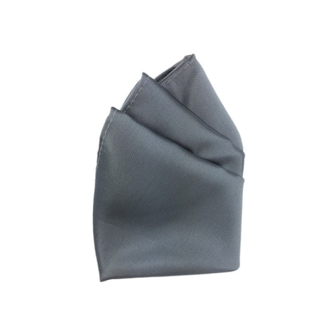 Steel Grey Polyester Pocket Hanky