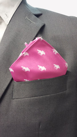 Magenta Racing Pocket Square
