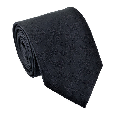 Passionate Black Patterned Tie