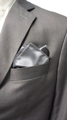 Matte Grey Polyester Pocket Hanky