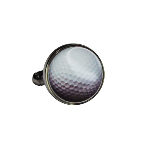 Round Printed Golf Ball Cufflinks