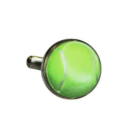 Round Printed Tennis Ball Cufflinks
