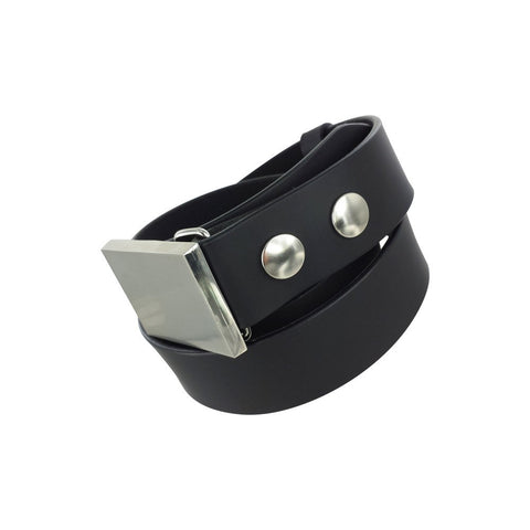 100% Genuine Leather Belt with Silver Studs (without Buckle)
