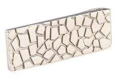 Abstract Mosaic Silver Money Clip