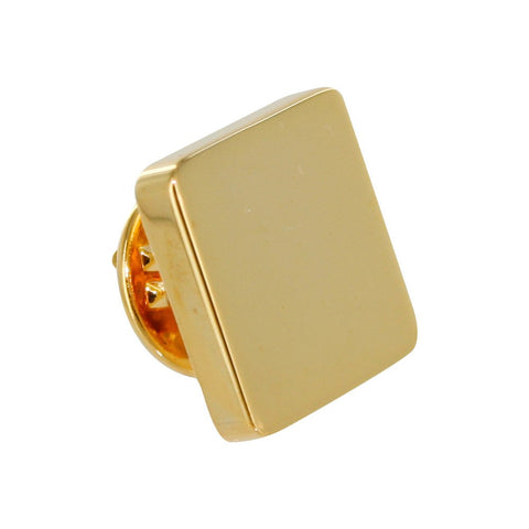 Gold Square Lapel Pin