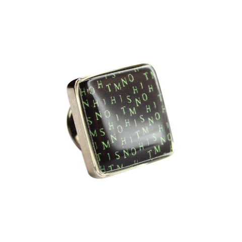 Printed Matrix Square Lapel Pin