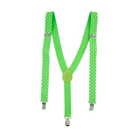 Fluoro Green Polka Dot Braces