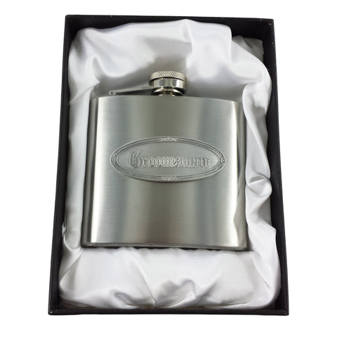 Personalised Groomsman Hip Flask