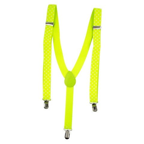 Fluoro Yellow Polka Dot Braces