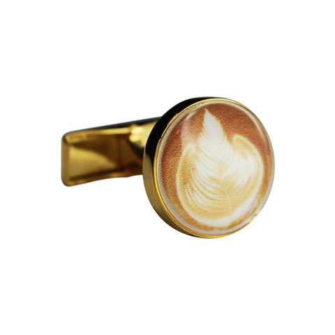 Printed Coffee Round Cufflinks