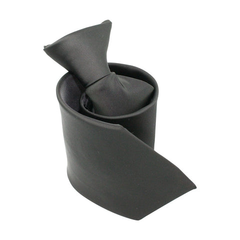 Black Polyester Clip On Tie
