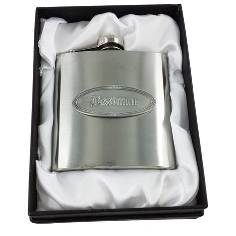 Personalised Bestman Hip Flask