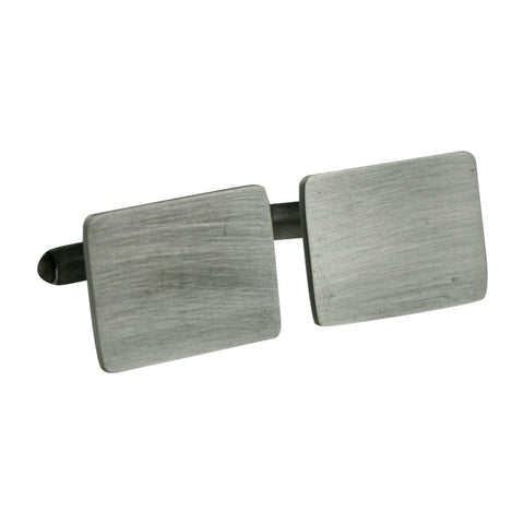 TNC Brushed Silver Rectangle Cufflinks