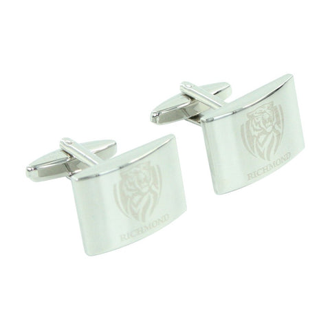 AFL Richmond Tigers Brushed Steel Cufflinks