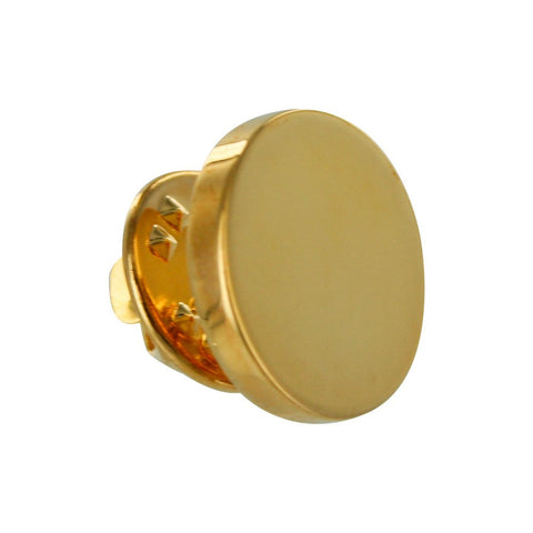 Gold Round Lapel Pin