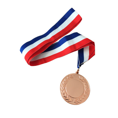 Personalised Engraved Polished Rose Gold Medal