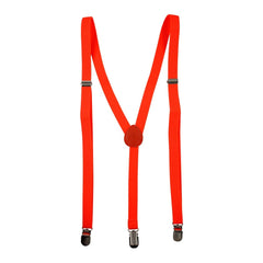 Fluoro Orange Skinny Braces
