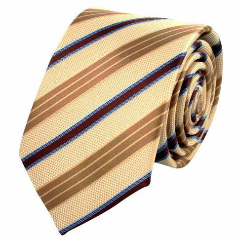 Tan Chocolate And Latte Stripe Tie
