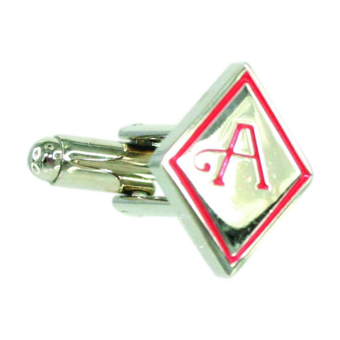 Silver Ace of Diamonds Cufflink