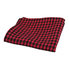 Cherry and Black Gingham Pocket Square