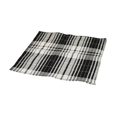 Black and White Tartan Pocket Square