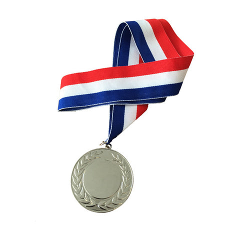 Personalised Engraved Polished Silver Medal