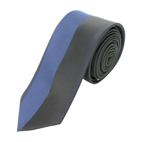 Skinny Vertical Black Blue Tie