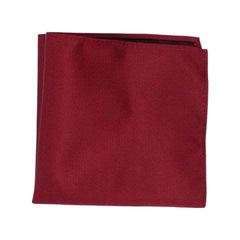 Maroon Ribbed Pocket Square