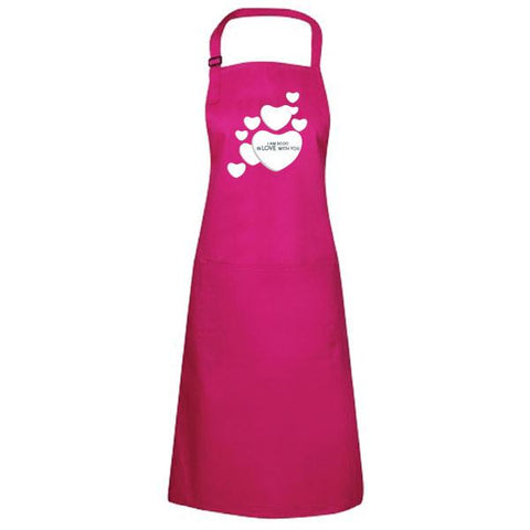 Valentines Day Personalised Printed Pink Apron