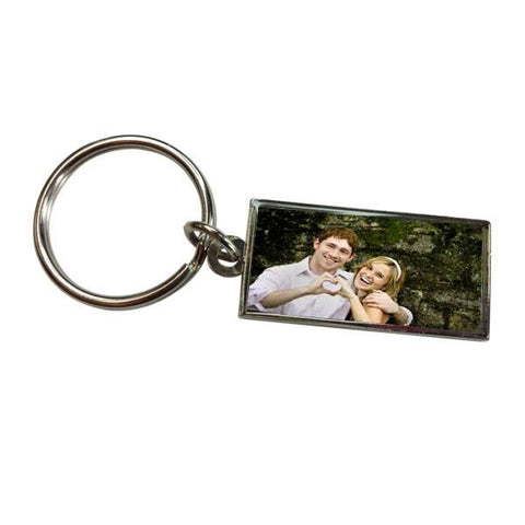 Personalised Valentines Day Printed Rectangle Key Ring