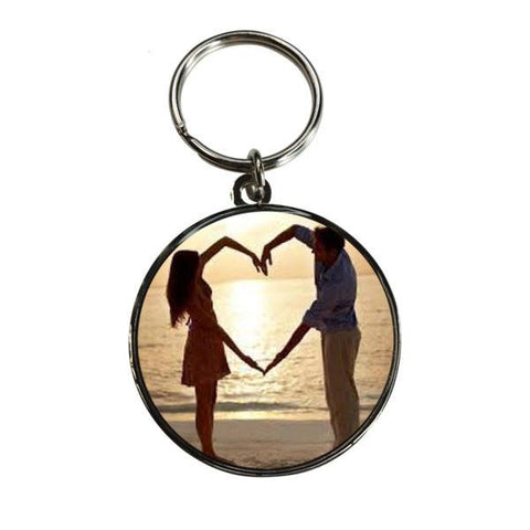 Personalised Valentines Day Printed Round Key Ring
