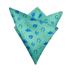 Aquamarine Racing Pocket Square