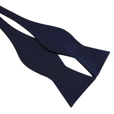 Tie Your Own Bow Tie - Blue Grid Pattern