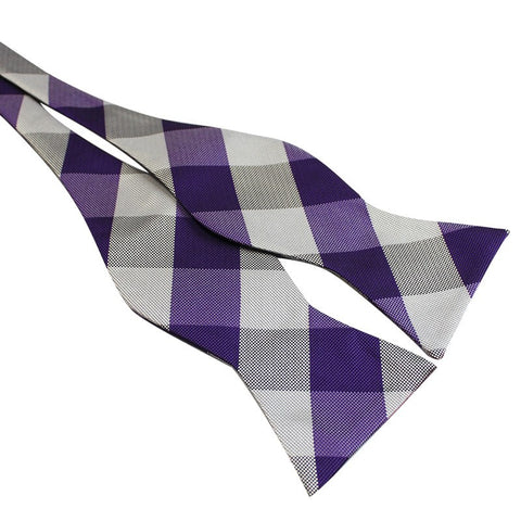 Tie Your Own Bow Tie - Purple Checkered