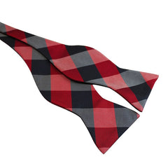 Tie Your Own Bow Tie - Navy and Red Checkered