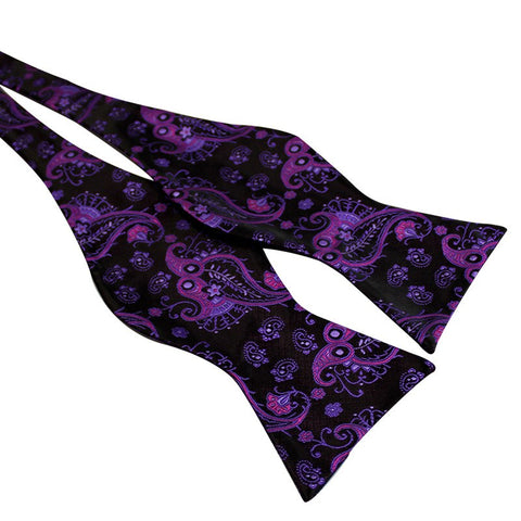 Tie Your Own Bow Tie - Purple Paisley